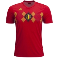 2018 World Cup Belgium Home Soccer Jersey Shirt (Player Version)