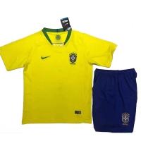 2018 World Cup Brazil Home Children's Jersey Kit(Shirt+Short)