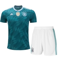 2018 World Cup Germany Away Green&White Jersey Kit(Shirt+Short)