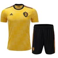 2018 World Cup Belgium Away Yellow&Black Jersey Kit(Shirt+Short)