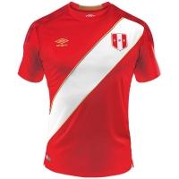 2018 World Cup Peru Away Red Soccer Jersey Shirt
