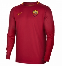 17-18 Roma Home Red Long Sleeve Jersey Shirt