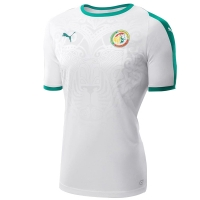 2018 World Cup Senegal Away White Soccer Jersey Shirt