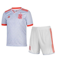 2018 World Cup Spain Away White Soccer jersey kit (Shirt+Short)