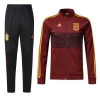 2018 World Cup Spain Red&Black Training Kit(Jacket+Trouser)