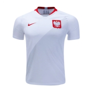 2018 World Cup Poland Home White Soccer Jersey Shirt