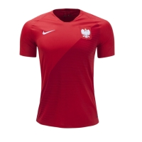 2018 World Cup Poland Away Red Soccer Jersey Shirt