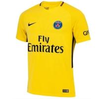 17-18 PSG Away Yellow Soccer Jersey Shirt(Player Version)