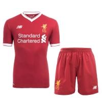 17-18 Liverpool Home Soccer Jersey Kit(Shirt+Short)