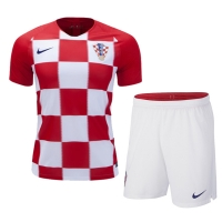 2018 World Cup Croatia Home Red Jersey Kit(Shirt+Short)