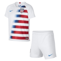 2018 USA Home Soccer Jersey Kit(Shirt+Short)