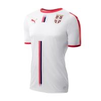 2018 World Cup Serbia Away White Soccer Jersey Shirt