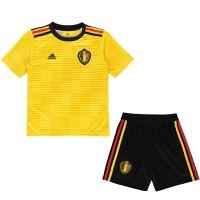2018 World Cup Belgium Away Yellow Children's Jersey Kit(Shirt+Short)