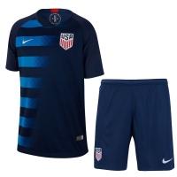2018 USA Away Navy Soccer Jersey Kit(Shirt+Short)