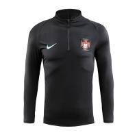 2018 World Cup Portugal Black Zipper Sweat Top Shirt