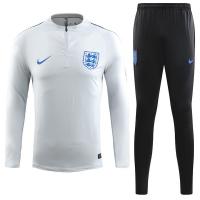 2018 World Cup England Black Training Kit(Zipper Shirt+Trouser)