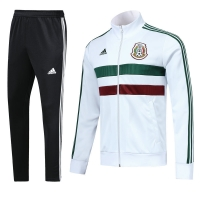 2018 World Cup Mexico White&Black Training Kit(Jacket+Trouser)
