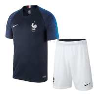 2018 World Cup France Home Soccer Jersey Kit(Shirt+Short)