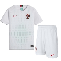 2018 World Cup Portugal Away White Jersey Kit(Shirt+Short)