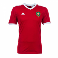 2018 World Cup Morocco Home Red Soccer Jersey Shirt