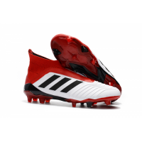 AD Predator 18+ without latchet FG Soccer Cleats-Red&White