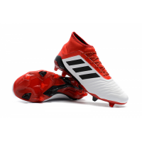 AD Predator 18+ FG Soccer Cleats-Red&White