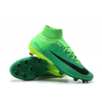 NK Mercurial Superfly V FG Soccer Cleats-Green