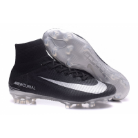 NK Mercurial Superfly V FG Soccer Cleats-Black