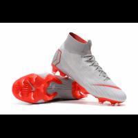NK Mercurial Superfly VI Elite FG Soccer Cleats-Gray