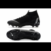 NK Mercurial Superfly VI Elite FG Soccer Cleats-Black