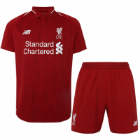 18-19 Liverpool Home Soccer Jersey Kit(Shirt+Short)
