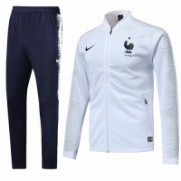 2018 World Cup France White&Navy Training Kit(Jacket+Trouser)