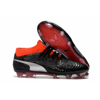 Puma One 18.1 Syn FG Soccer Cleats-Black&Orange