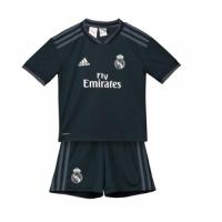 18-19 Real Madrid Away Dark Navy Children's Jersey Kit(Shirt+Short)
