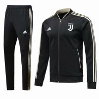 18-19 Juventus Black Training V-Neck Kit(Jacket+Trouser)