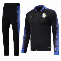 18-19 Inter Milan Black&Blue V-Neck Training Kit(Jacket+Trouser)