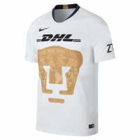 18-19 UNAM Pumas Home White Soccer Jersey Shirt
