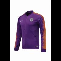18-19 Manchester City Purple&Orange V-Neck Training Jacket