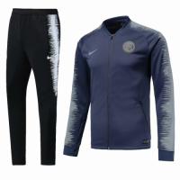 18-19 Inter Milan Gray&Black V-Neck Training Kit(Jacket+Trouser)
