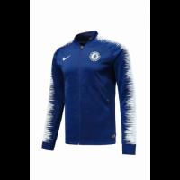 18-19 Chelsea Blue&White V-Neck Training Jacket