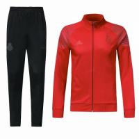 18-19 Real Madrid Red&Black High Neck Collar Training Kit(Jacket+Trouser)