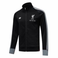 18-19 Liverpool Black High Neck Collar Training Jacket