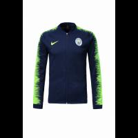 18-19 Manchester City Navy&Green V-Neck Training Jacket