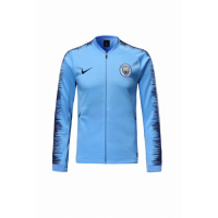 18-19 Manchester City Blue V-Neck Training Jacket