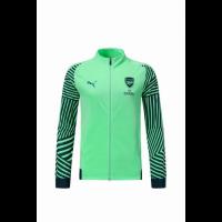 18-19 Arsenal Green High Neck Collar Training Jacket