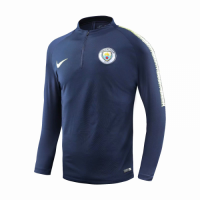 18-19 Manchester City Navy Zipper Sweat Top Shirt