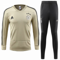 18-19 Ajax Yellow&Navy Training Kit(Sweater Top Shirt+Trousers)