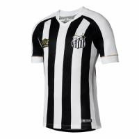 18-19 Santos Away Black&White Soccer Jersey Shirt