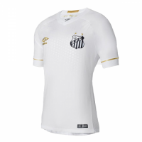 18-19 Santos Home White Soccer Jersey Shirt
