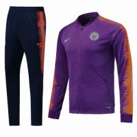 18-19 Manchester City Purple&Navy Training Kit(Jacket+Trousers)